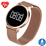 Women's Smart Watch for iPhone Android Fitness Tracker HR IP67 Waterproof Bracelet with Heart Rate Blood Pressure Sleep Monitor Pedometer Calorie Tracker Sport Swim Wristband Best Thanksgiving Gifts (Color: waterproof)