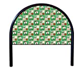 New Twin Size Children's Youth Black Metal Headboard with Custom Boston Celtics NBA Upholstered Headboard
