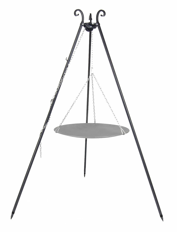 Kingdiscount® Lagerfeuerpfanne 56 cm inkl. Dreibein / Schwenkgrill günstig