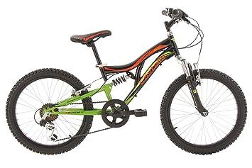 "KS Cycling Castello Vélo VTT enfant 20"" Noir/Vert/Orange 30 cm"