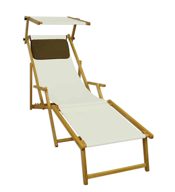 sonnenliege gartenliege deckchair saunaliege inkl abnehmbarem fu teil und dach braun g nstig. Black Bedroom Furniture Sets. Home Design Ideas
