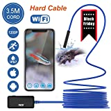 THZY Upgrade Wireless Endoscope 1200P HD 3.5m Snake Camera,Inspection Camera WiFi Borescope Waterproof IP67 with 2.0 Megapixels with 8 LED lightsfor iPhone iPad Android Phone, Tablet PC Blue