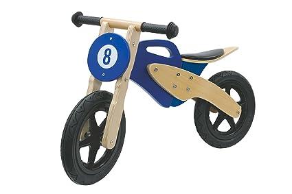 Jamara - 460232 - Draisienne en Bois Moto - Bleu