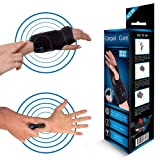 CarpalCure Wrist Brace - Fast Pain Relief. Effective Treatment of Carpal Tunnel Syndrome, Tendonitis & Arthritis & Sprained Wrists (Tamaño: Right.)