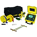 AEMC 4620 4-Point Ground Resistance Tester Kit, 2000 Ohms Resistance, 10mA Current with 150' Leads (Tamaño: Tester with 150' Leads)