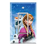 Single Rocker Wall Switch/Outlet Cover Plate Decor Wallplate - Frozen Anna Olaf (Color: Multicolored, Tamaño: Midway)
