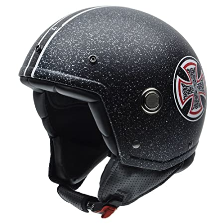 NZI 050260G725 Tonup Graphics Iron Cross, Casque de Moto, Taille L Multicolore