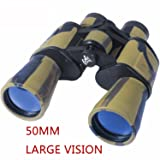 AUGYMER 50mm Binoculars, HD BAK4 Binoculars for Hunting Bird Watching Wide Angle Fog-proof HD BAK4 Large Eyepiece High Power Binocular for Hunting Camping with Case(8 Times)