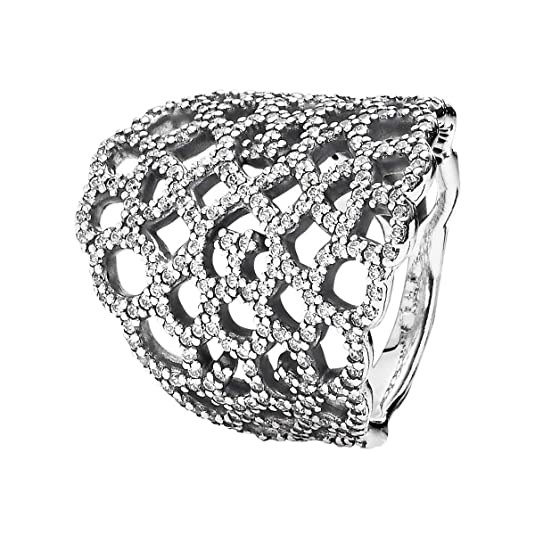 Pandora Women Silver Zircon Rings