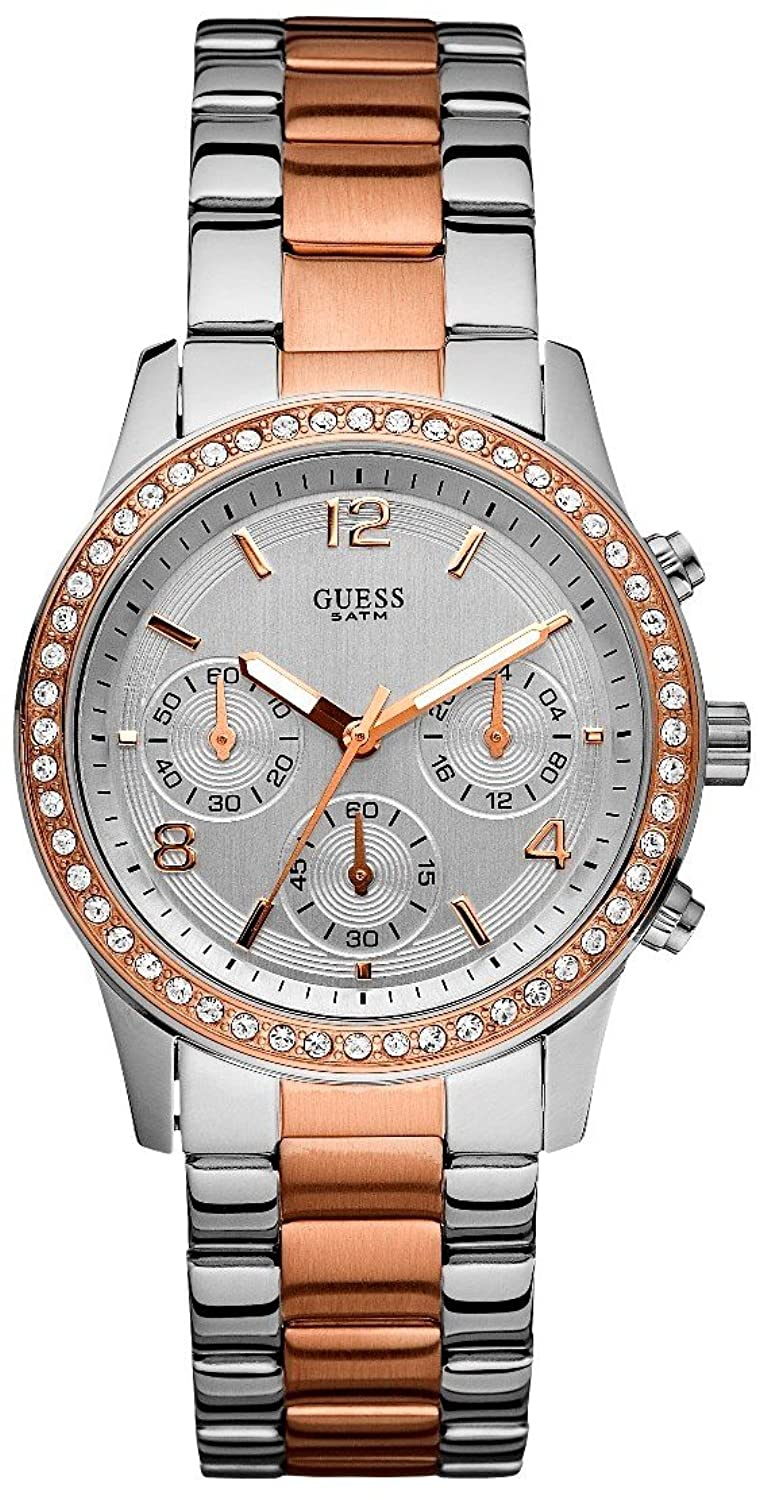 Guess Sports Silver/Rose Gold Watch W0122L1 guess sc49 13670 rose