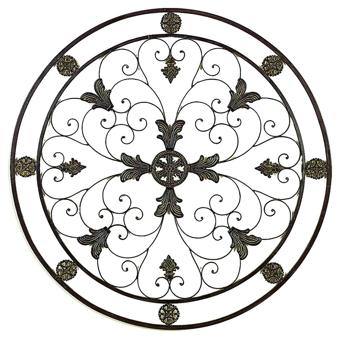 Benzara 81372 Energy Circle Metal Wall Art Decorative Sculpture
