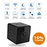 Mini Spy Camera WiFi, Jayol 1080P Spy Hidden Camera Upgraded Night Vision and Motion Detection Spy Cam, Portable Nanny Cam for Home/Office Security and Outdoor ( With Cell Phone App) (Color: Mini Camera, Tamaño: Mini)
