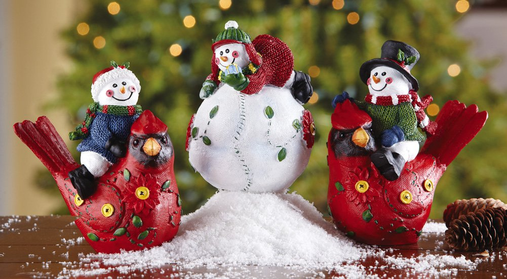 Playful Snowmen Sitters Holiday Decorations