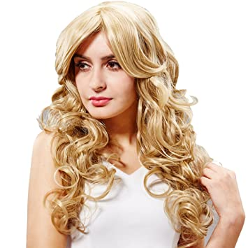 hsg new fashion high quality langen blonden lockiges wavy. Black Bedroom Furniture Sets. Home Design Ideas