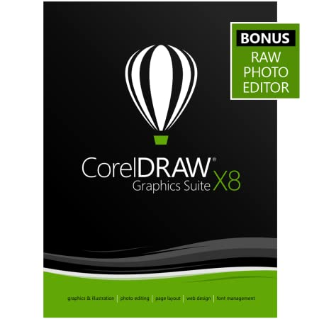CorelDRAW Graphics Suite X8 Upgrade - Amazon Exclusive - Includes RAW Photo Editor [Download]