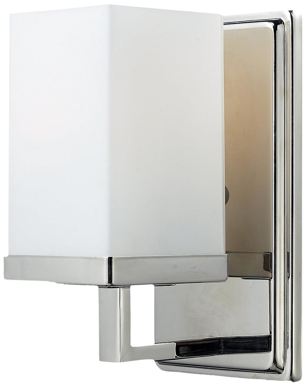 Z Lite 1900 1V Tidal One Light Vanity Light Metal Frame Brushed Nickel Finish and Matte Opal ...