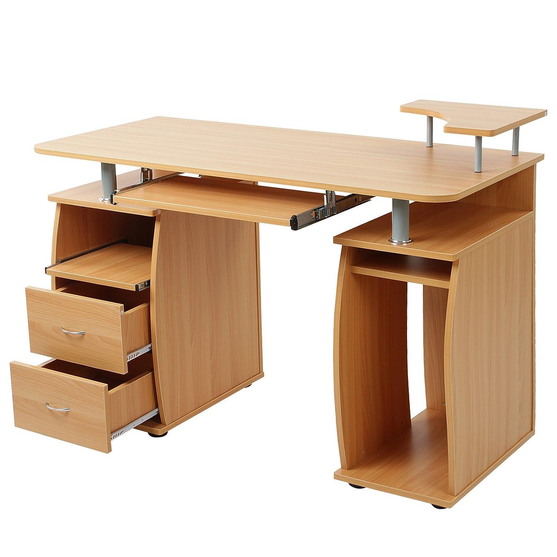 Scrivania tavolo per computer ufficio porta pc ripiani for Tavolo scrivania