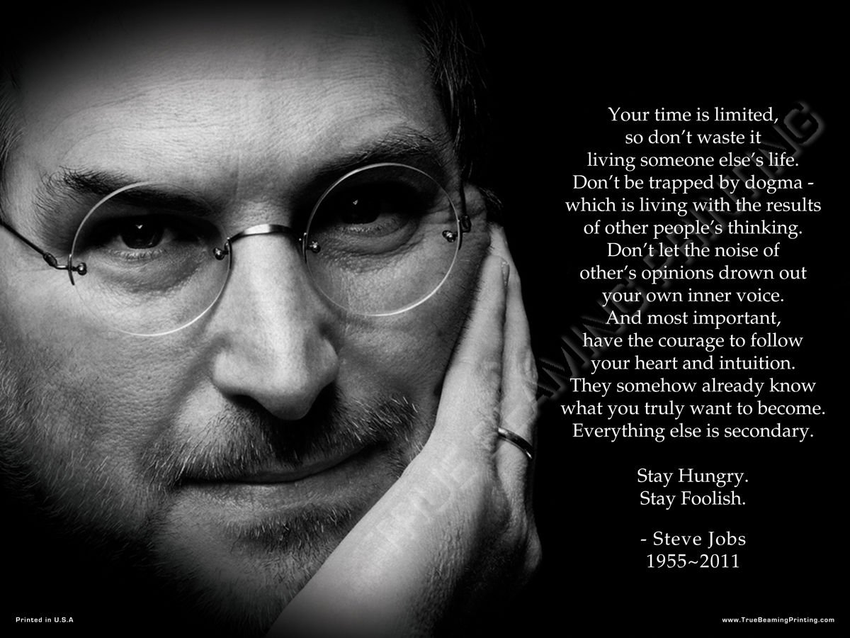 Steve Jobs Poster, Your time is limited Premium Poster Print
