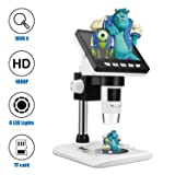 LCD Digital Microscope, TSAAGAN 4.3 inch Full Color LCD Digital USB Microscope Camera with 1080P HD 2MP 50x to 1000x Magnification Endoscope with 8 LED Adjustable Light for Kids, Students Gifts (Color: #01,)