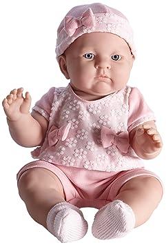 JC Toys Lily dans un joli réaliste poupée Baby Doll, Rose clair, 45,7cm