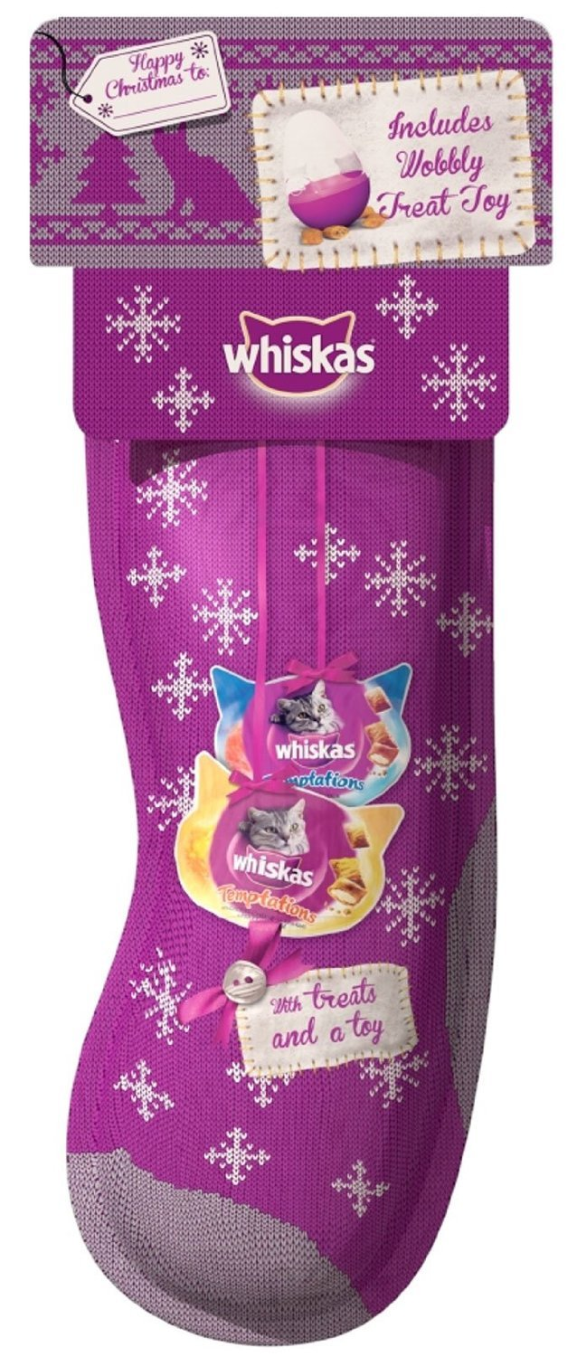 Christmas Cat Stocking Treats and Toy