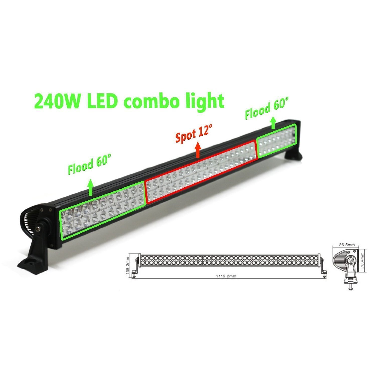 "Orion 42"" Off-Road Extra LED Light Bar Cree - 240W Flood/Spot Combo Beam"