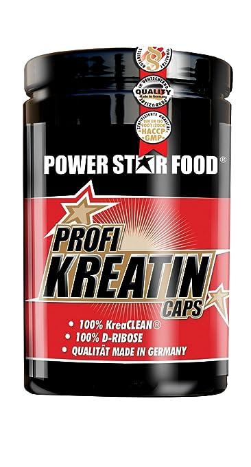 PROFI KREATIN CAPS, Dose 500 Kapseln à 824 mg, CREAPURE und D-Ribose zur Kraftsteigerung, höchste deutsche Qualitätsstufe