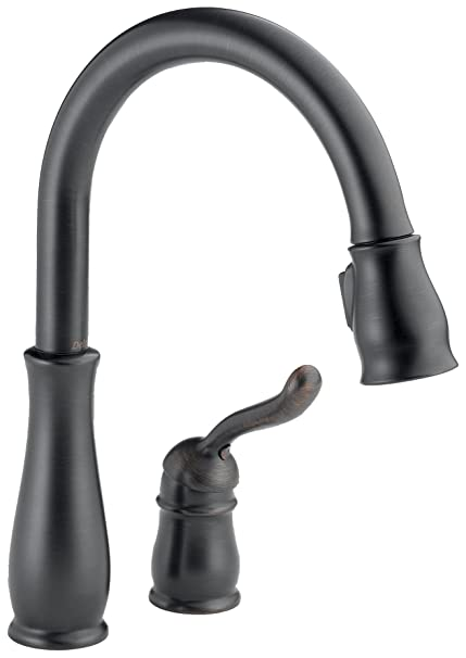 Delta 978-RBWE-DST Leland Single Handle Water Efficient Pull-Down Kitchen Faucet, Venetian Bronze