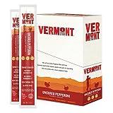 Vermont Smoke & Cure Meat Sticks, Turkey, Antibiotic Free, Gluten Free, Uncured Pepperoni, 1oz Stick, 24 Count