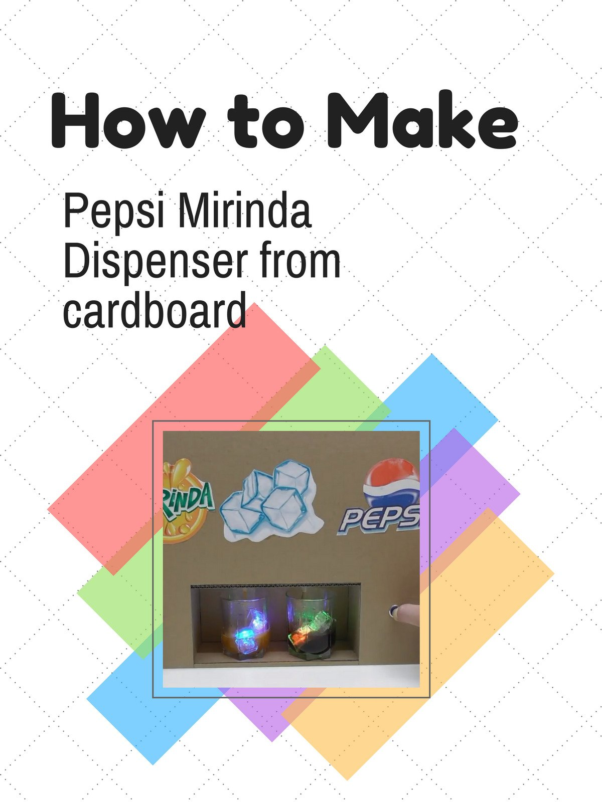 How to Make Pepsi Mirinda Dispenser from cardboard