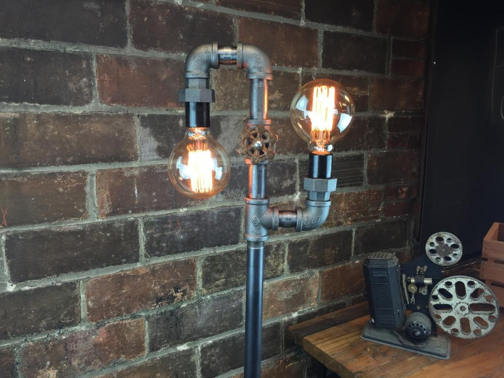 Industrial Style Floor Lamp Multi Bulb Edison Floor Lamp