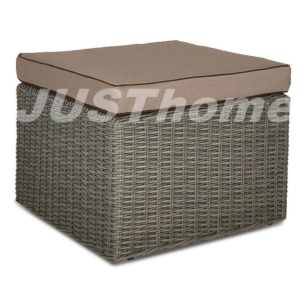 JUSThome Hocker Sitzhocker Lounge Hocker RODOS (HxBxL): 38x62x62 cm Grau kaufen