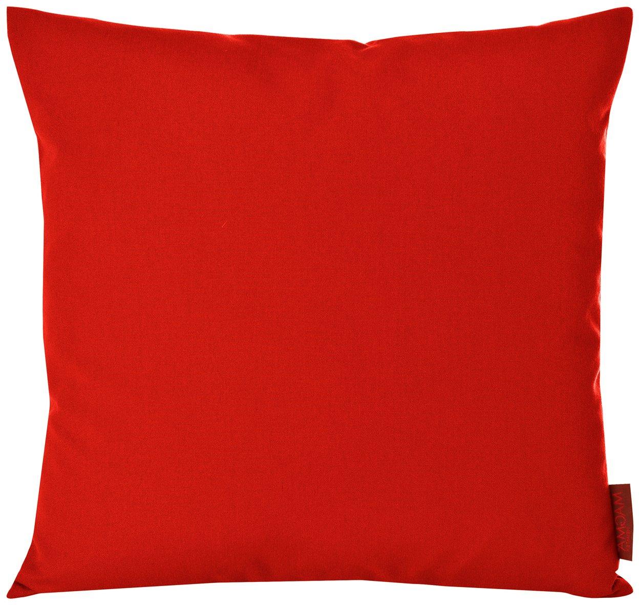 Summer Outdoor Kissenbezug ca. 40×40 cm für Terrasse Garten & Balkon in 11 frische unifarben (050 rot) jetzt kaufen