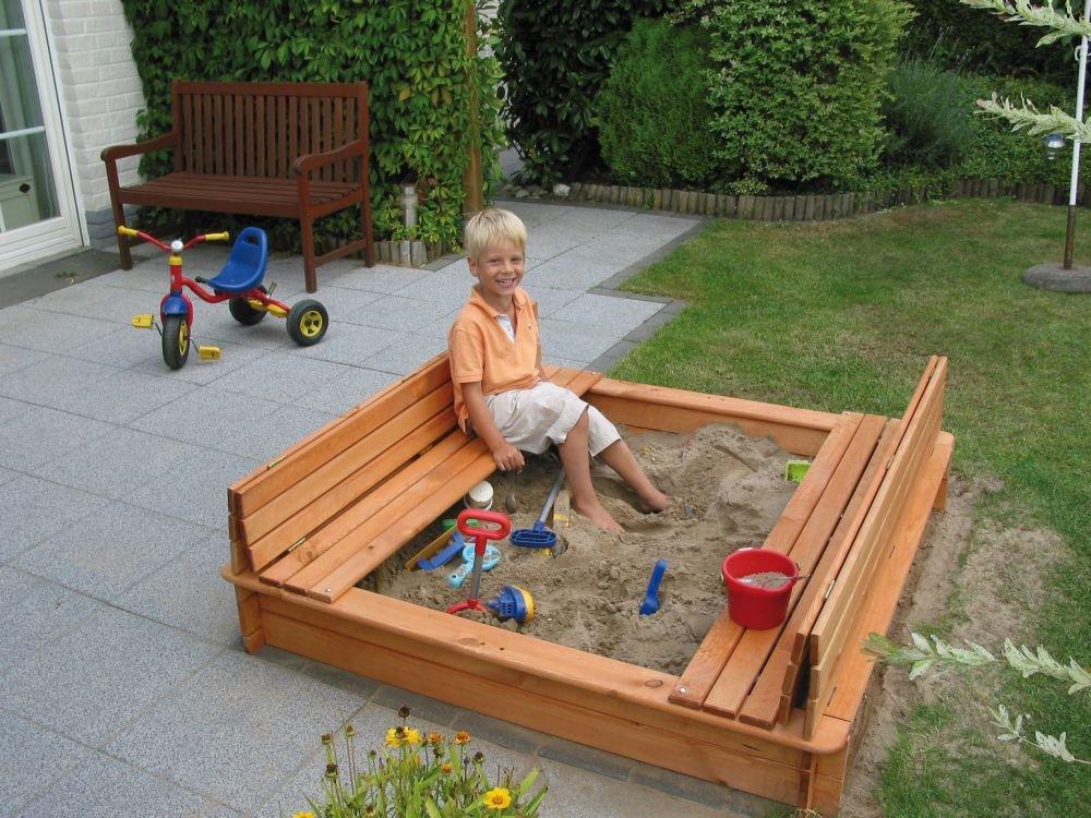 Sandkasten Modell Donald 1,40 x 1,40 m imprägniertes Holz Gartenspielzeug günstig online kaufen