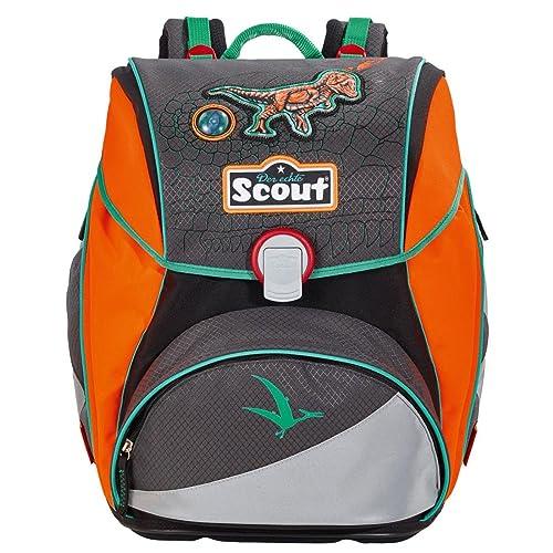 Der Schulranzen Scout Alpha im Set, Farbe Neon und Motiv Dino
