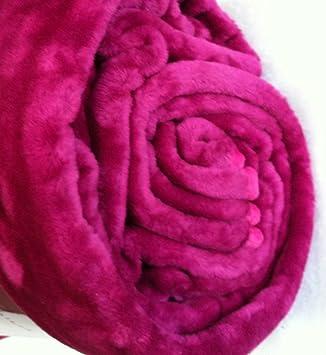 Rose xxl mink mink couverture de luxe fausse - Plaid fausse fourrure rose ...