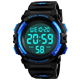 Kids Digital Watch,Boys Sports Waterproof Led Watches With Alarm,Wrist Watch For Boys Girls Childrens (Color: Black)