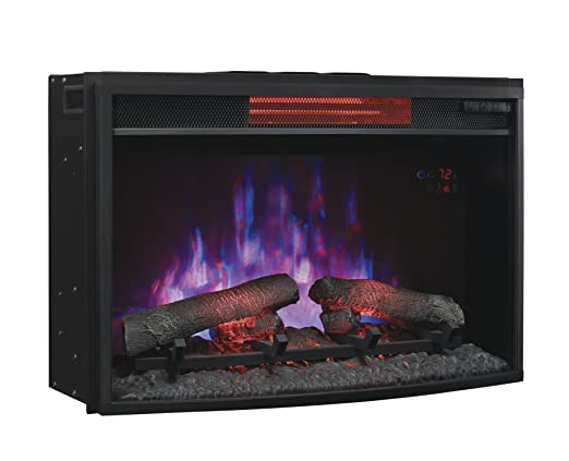 ClassicFlame Curved Infrared SpectraFire Plus Insert with Safer Plug, 25-Inch