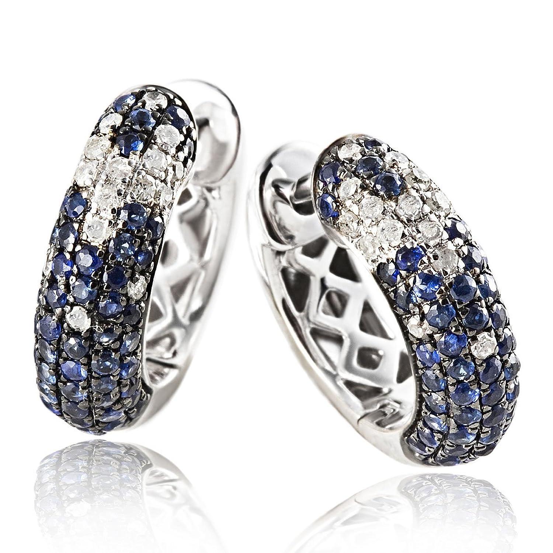 Goldmaid Creolen Sternenhimmel Diamanten blaue Saphire 585 Weißgold blau schenken