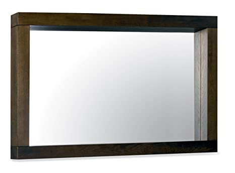 Premier Collection Lyon Walnut Large Landscape Mirror, 144 x 90 x 9 cm