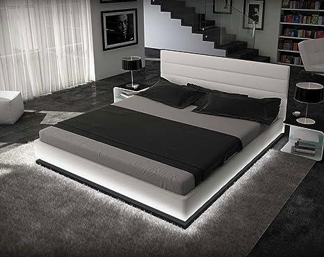 SAM® Polsterbett Jugendbett Innocent 90 x 200 cm weiß RIPANI Polster Bett mit Beleuchtung komfortabel exklusiv Lieferung erfolgt uber Spedition teilzerlegt