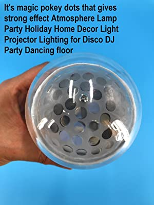 3W LED Magic Pattern Colourful Pokey dots Base RGB LED Auto Rotating Bulb Stage Light Effect Atmosphere Lamp Party Holiday Home Decor Light Projector