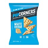 POPCORNERS White Cheddar Popped Corn Snacks, Gluten Free, 7oz bags (Pack of 12)
