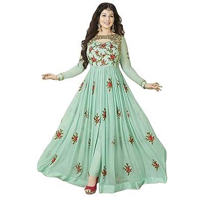 Anarkali suit (New arrival Women's Georgette Semi-stitched Salwar suit) at amazon