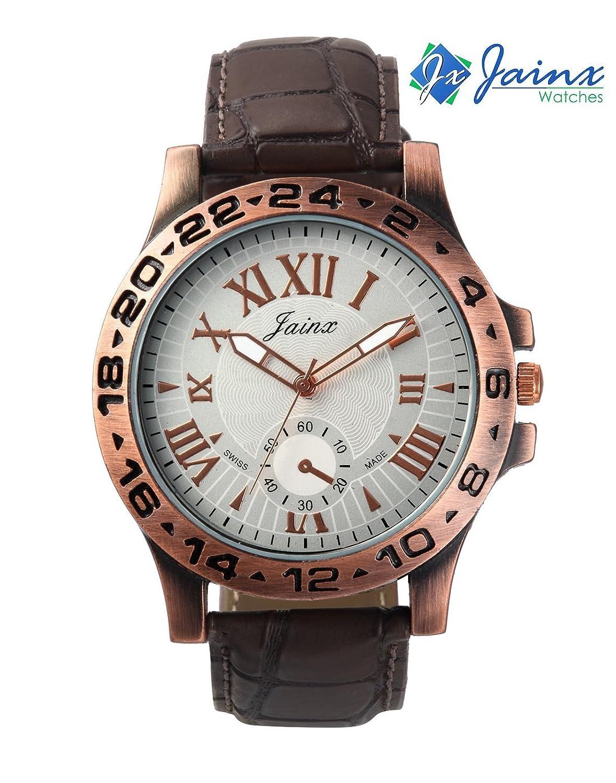 Jainx JM183 Antique Brown Analog Watch For Boys