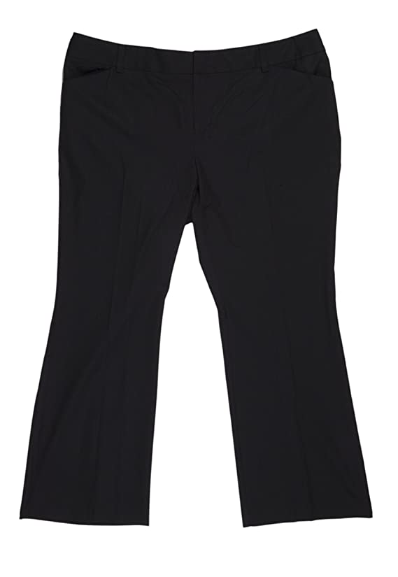 INC Solid Deep Women's Plus Petite Dress Trouser Pants