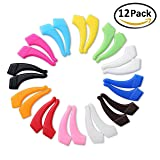 Deruicent 12 Pair Kids & Adults Sport Eyeglass Strap Holder Set Premium Grade Comfortable Silicone Anti-slip Holder for Glasses piece, Ear Hook, Eyeglass Temple Tip