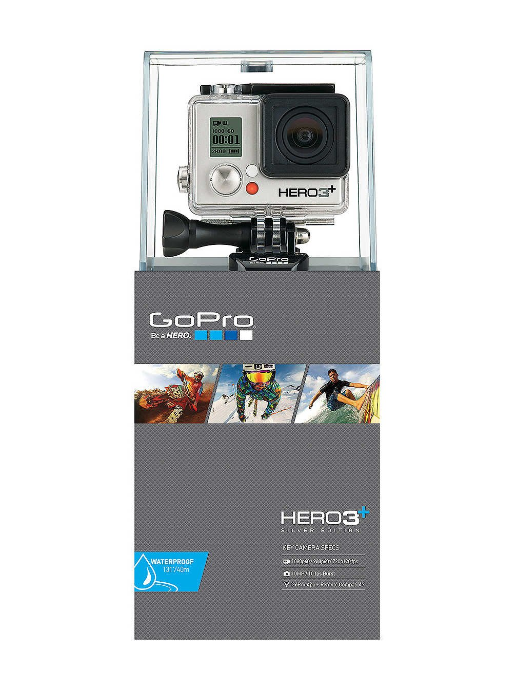 GoPro Actionkamera Hero3+ Silver Edition