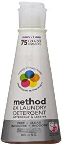 Method 8X Concentrated Laundry Detergent, Free & Clear, 75 Loads