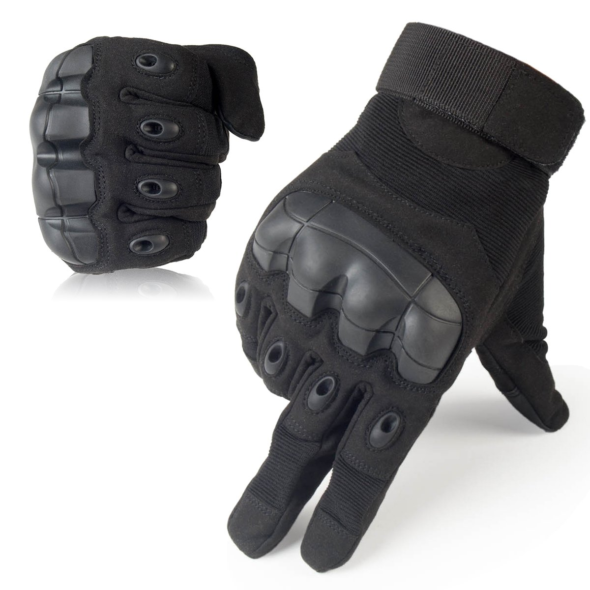 Motorcycle gloves smell -  Jiusy Military Rubber Hard Knuckle Tactical Gloves Full Finger Cycling Motorcycle Gloves